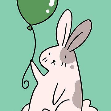 Green Balloon Bunny by SaradaBoru