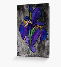 Iris & Crystals Greeting Card