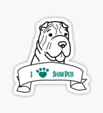 I Love Shar Peis logo Sticker