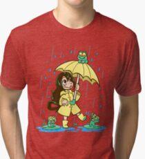 Bestes Frosch-Mädchen Vintage T-Shirt