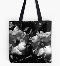 Winter Park Roses in Black and White Tote Bag