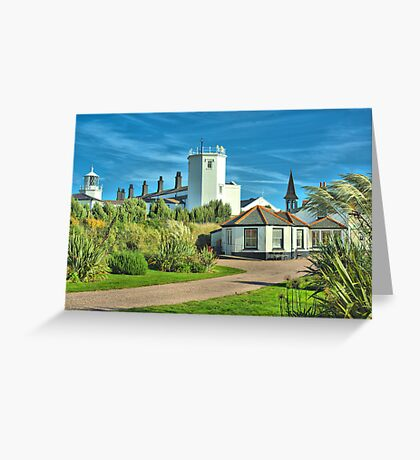 Lighthouse and Hostel Greeting Card