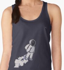 Brian The Poostronaut Evacuates To Outer Space Women's Tank Top