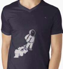 Brian The Poostronaut Evacuates To Outer Space Men's V-Neck T-Shirt