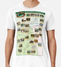 NatchezTraceTravel.com's Top 30 Favorite Sites Map Premium T-Shirt