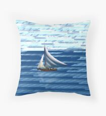 A delightful sail on the waves of the Internet Throw Pillow