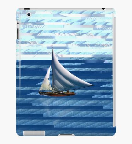 A delightful sail on the waves of the Internet iPad Case/Skin
