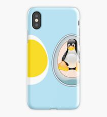 LINUX TUX  PENGUIN  3 EGGS iPhone Case/Skin