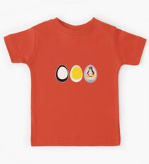 LINUX TUX  PENGUIN  3 EGGS Kids Tee