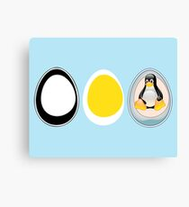 LINUX TUX  PENGUIN  3 EGGS Canvas Print