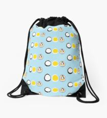 LINUX TUX  PENGUIN  3 EGGS Drawstring Bag