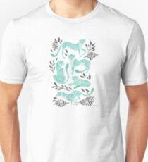 Cheetah Collection – Mint & Black Palette Unisex T-Shirt