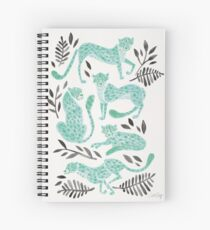 Cheetah Collection – Mint & Black Palette Spiral Notebook