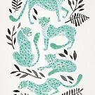 Gepard-Sammlung - Mint & Black Palette von Cat Coquillette