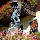 Statue of Saint Florian in Zirl, Tirol, Austria by Elzbieta Fazel