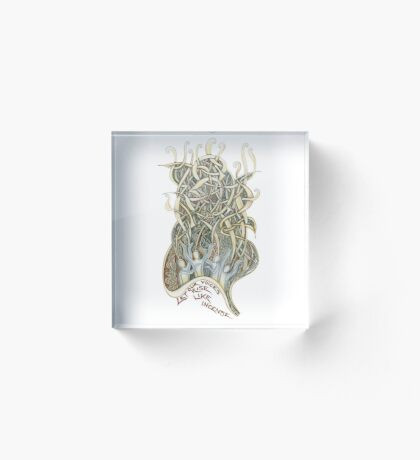 Let Our Voices Rise Like Incense Acrylic Block