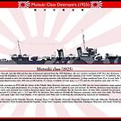 Mutsuki class destroyers (1925) by TheCollectioner