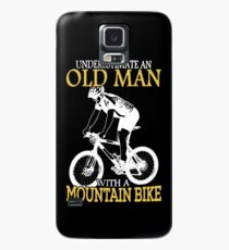 Never Underestimate An Old Man With A Mountain Bike T-Shirt Case/Skin for Samsung Galaxy