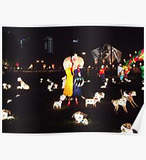 101 Dalmations at night Poster