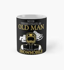 Never Underestimate An Old Man With A Snowmobile T-Shirt Mug