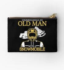 Never Underestimate An Old Man With A Snowmobile T-Shirt Studio Pouch