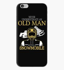 Never Underestimate An Old Man With A Snowmobile T-Shirt iPhone Case