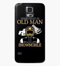 Never Underestimate An Old Man With A Snowmobile T-Shirt Case/Skin for Samsung Galaxy