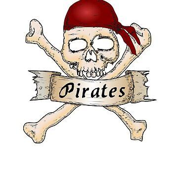 Pirate skull Bones T-Shirt by AbdelaaliKamoun