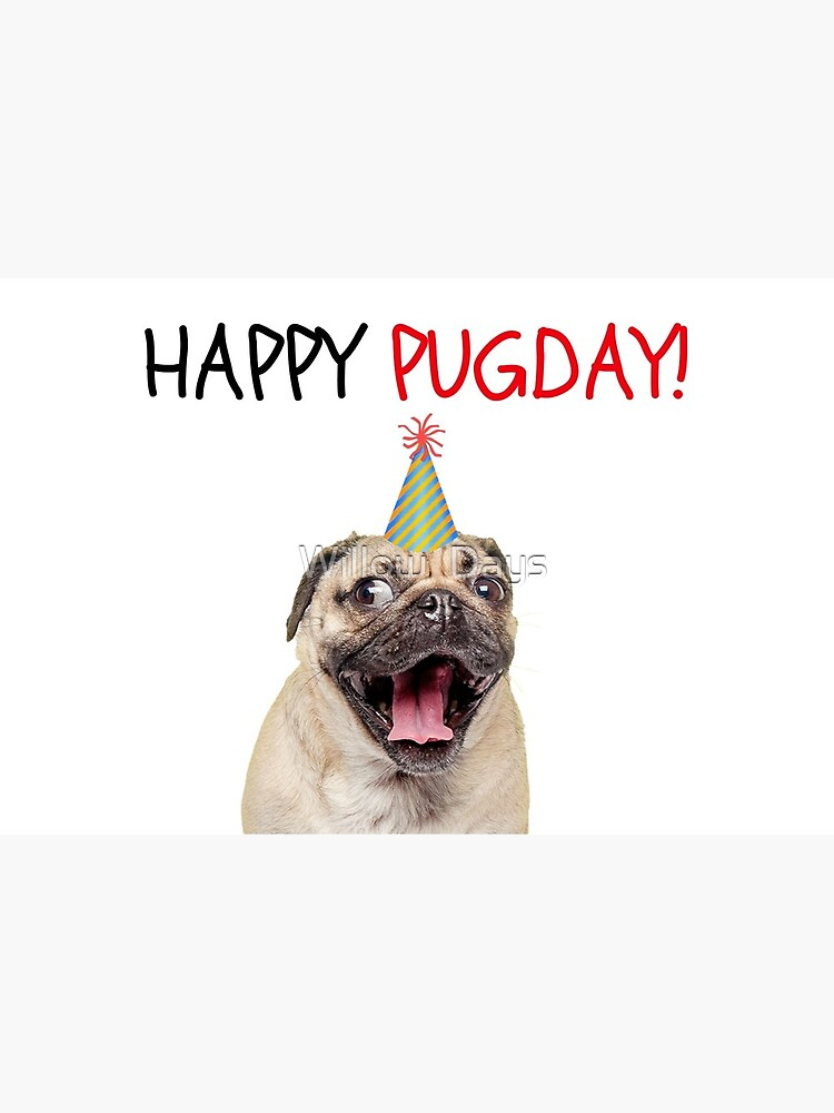 Pug Birthday Card Dog Meme Greeting Cards