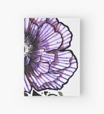 Violet Striped Poppy Hardcover Journal