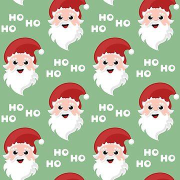 Seamless Christmas pattern with Santa Claus cartoon character by SooperYela