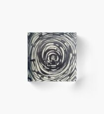 The Hypnotic Vortex of Things Acrylic Block