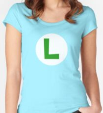 Super Mario Luigi Icon Women's Fitted Scoop T-Shirt