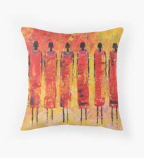 Masai Beads Throw Pillow
