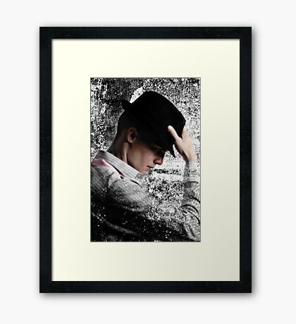 Hat Strategically Dipped Framed Print