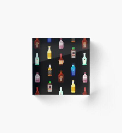 Mini bottles Acrylic Block