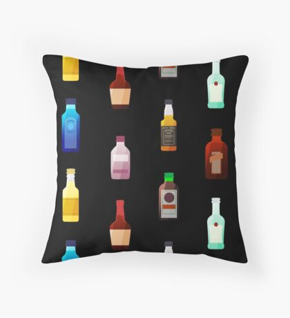 Mini bottles Throw Pillow