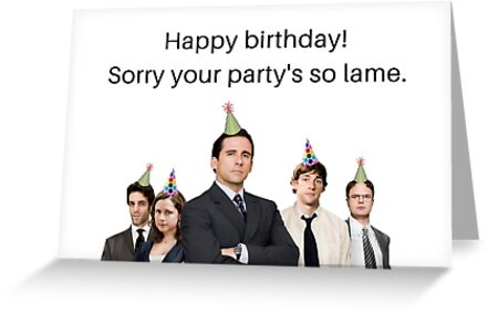 Office Birthday Card Meme Greeting Cards Happy
