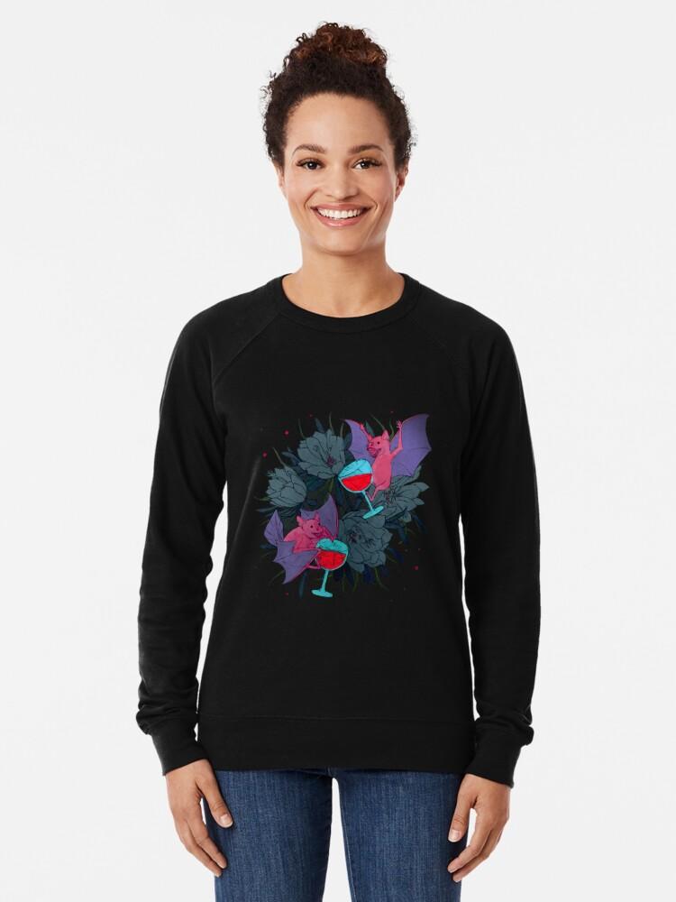 Alternate view of party bats Lightweight Sweatshirt
