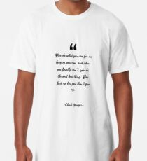 Chuck Yeager famous quote about best Long T-Shirt