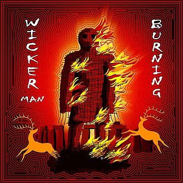WICKER MAN BURNING by FieryFinn77
