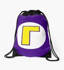 Super Mario Waluigi Icon Drawstring Bag
