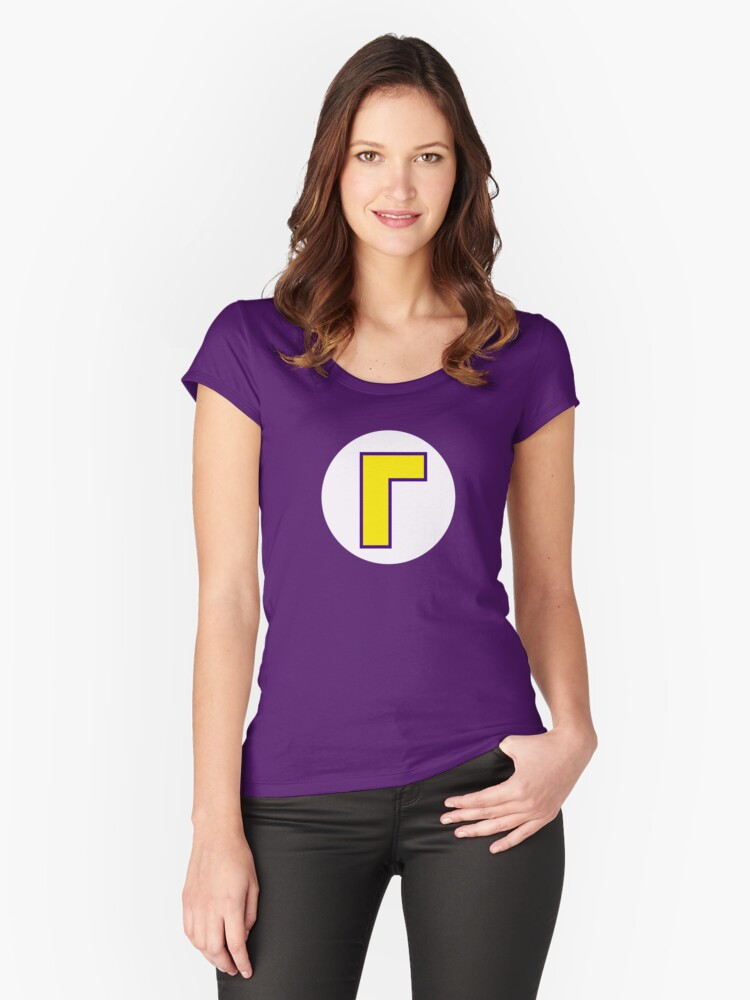 Super Mario Waluigi Icon Women's Fitted Scoop T-Shirt Front