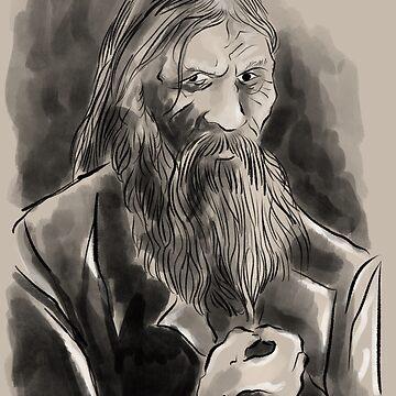 Gregory Rasputin portrait by Extreme-Fantasy