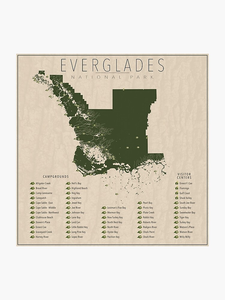 Everglades | Photographic Print on map of northern adirondacks, map of northern chesapeake bay, map of northern yellowstone, map of northern pinellas county, map of northern florida towns,