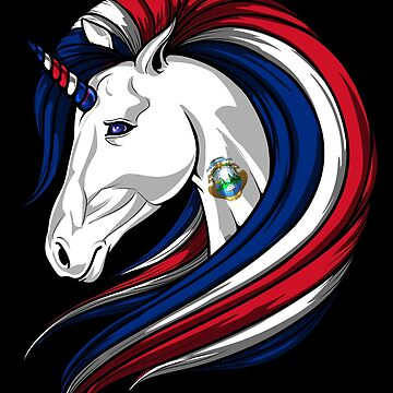 Costa Rica Flag Unicorn Costa Rican Flag DNA Heritage Roots Gift  by nikolayjs