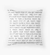 Alexis Rant in Black Throw Pillow