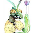 Partying Mantis by Karolina Koblenova
