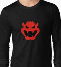 Super Mario Bowser Icon Long Sleeve T-Shirt