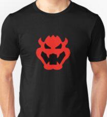 Super Mario Bowser Symbol Slim Fit T-Shirt